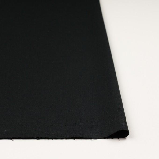 ウール&アンゴラ混×無地(ライトブラック)×サージストレッチ_全2色 イメージ3