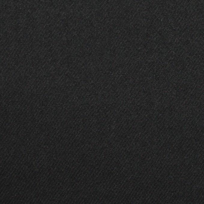 ウール&アンゴラ混×無地(ライトブラック)×サージストレッチ_全2色 イメージ1