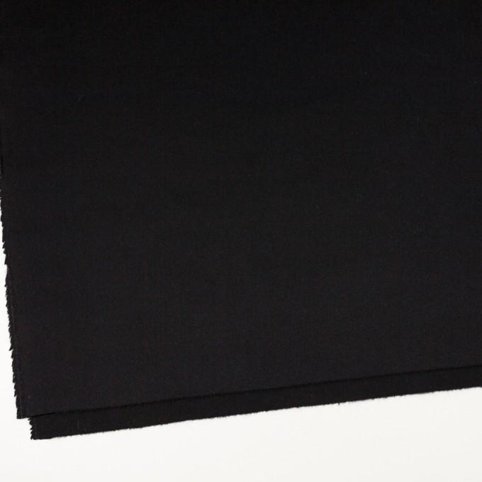 アンゴラ&ウール×無地(ブラック)×フラノ(フランネル) イメージ2