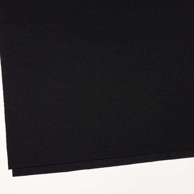 ウール×無地(ブラック)×かわり編み イメージ2