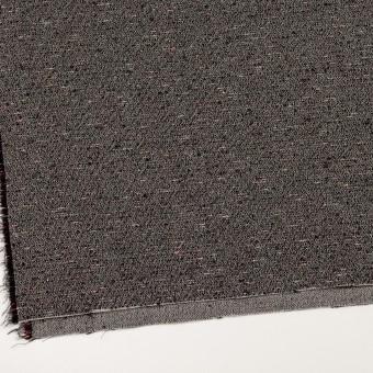 コットン&ウール混×ミックス(キナリ&ブラック)×二重織 サムネイル2
