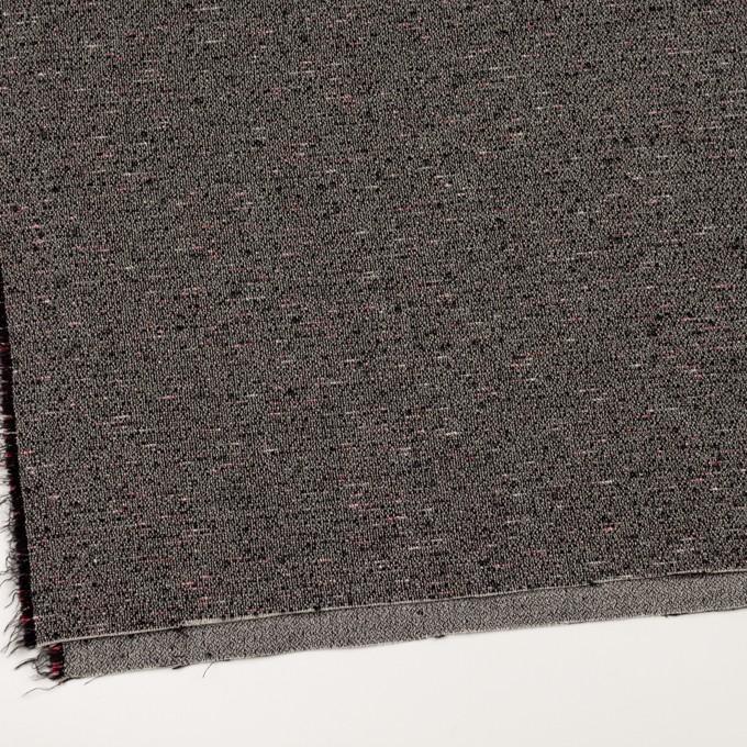 コットン&ウール混×ミックス(キナリ&ブラック)×二重織 イメージ2