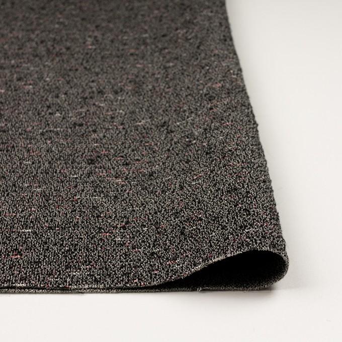 コットン&ウール混×ミックス(キナリ&ブラック)×二重織 イメージ3