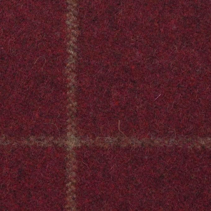 ウール×チェック(ガーネット)×フラノ(フランネル) イメージ1