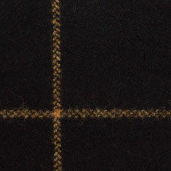 ウール×チェック(ブラック)×フラノ(フランネル)