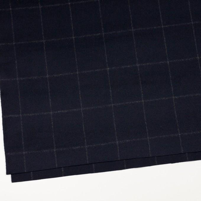 ウール×チェック(ダークネイビー)×ビーバー イメージ2