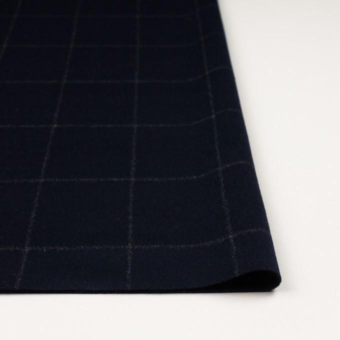 ウール×チェック(ブラック)×ビーバー イメージ3