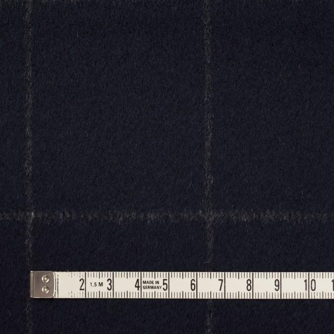 ウール×チェック(ダークネイビー)×ビーバー イメージ4