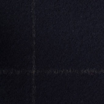 ウール×チェック(ダークネイビー)×ビーバー サムネイル1