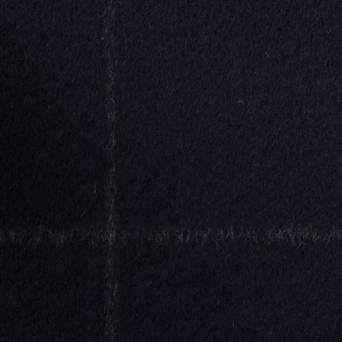 ウール×チェック(ダークネイビー)×ビーバー イメージ1