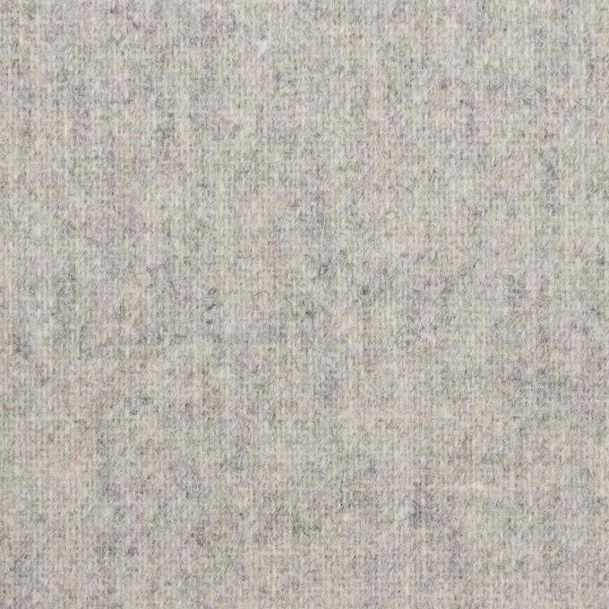 ウール×無地(ライトグレー)×ツイード イメージ1