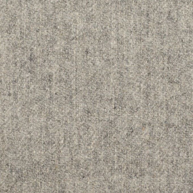 ウール×無地(ストーングレー)×ツイード イメージ1