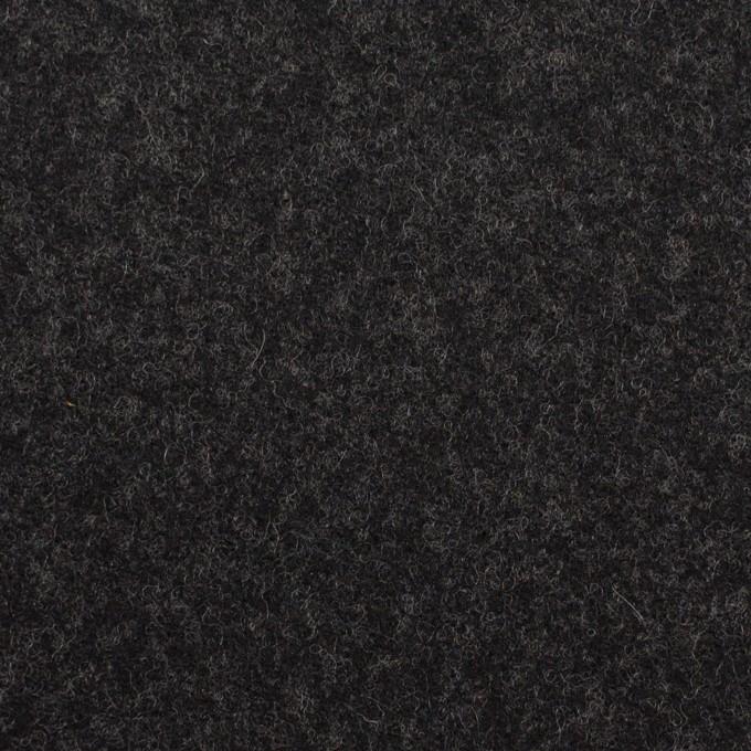 ウール×無地(チャコール)×フラノ(フランネル) イメージ1