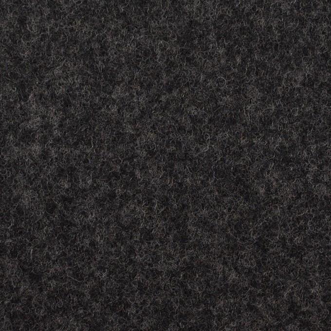 ウール×無地(チャコール)×ソフトメルトン イメージ1
