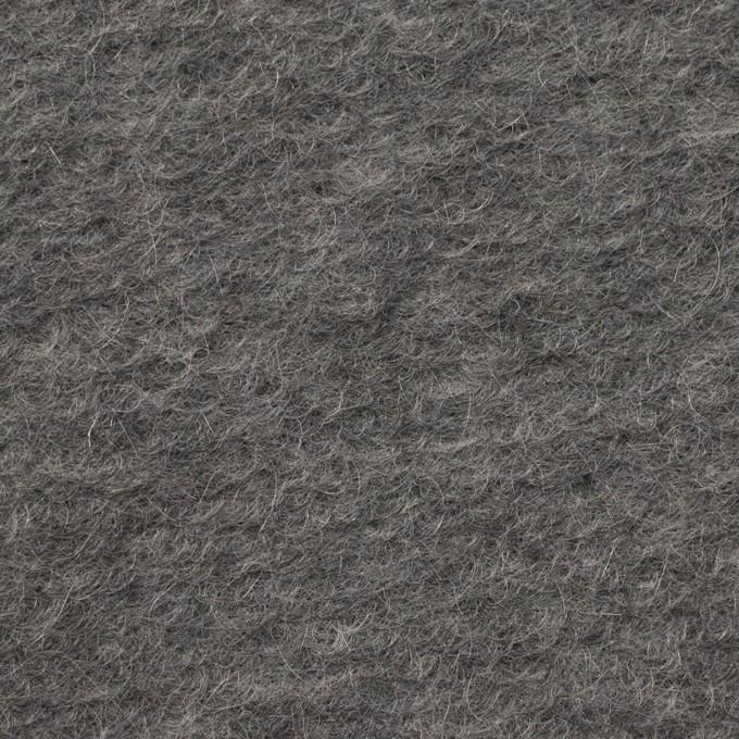 モヘア&ウール混×無地(チャコールグレー)×ループニット_イタリア製_全2色 イメージ1