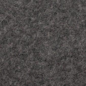 ウール&アクリル混×無地(チャコールグレー)×ボアニット_イタリア製