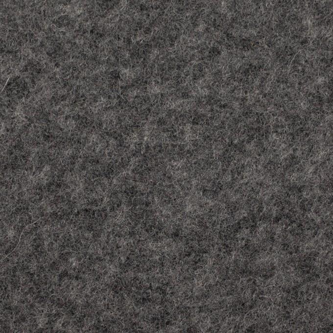 ウール&アクリル混×無地(チャコールグレー)×ボアニット_イタリア製 イメージ1
