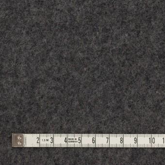 ウール&コットン×無地(チャコールグレー)×フリースニット サムネイル4