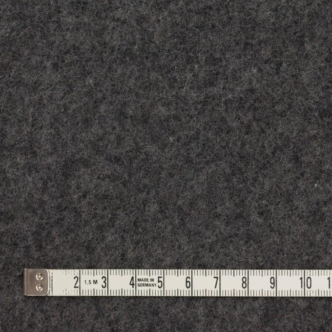 ウール&コットン×無地(チャコールグレー)×フリースニット イメージ4
