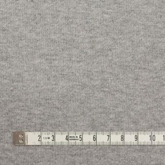 ウール&コットン×無地(チャコールグレー)×フリースニット サムネイル6