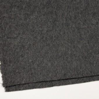 ウール&モヘア×無地(チャコールグレー)×かわり編み サムネイル2