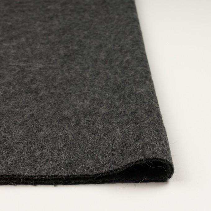 ウール&モヘア×無地(チャコールグレー)×かわり編み イメージ3