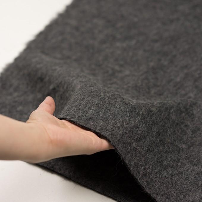 ウール&モヘア×無地(チャコールグレー)×かわり編み イメージ5