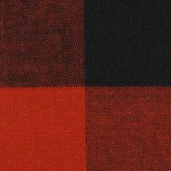 コットン×チェック(レッド&ブラック)×ビエラ