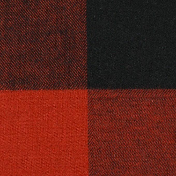 コットン×チェック(レッド&ブラック)×ビエラ イメージ1