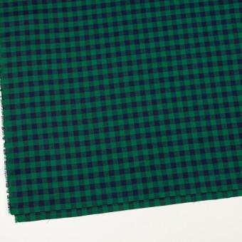 コットン×チェック(グリーン&ネイビー)×ビエラ サムネイル2