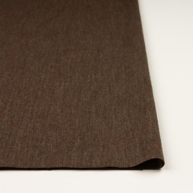 ウール×無地(カーキブラウン)×かわり編み イメージ3