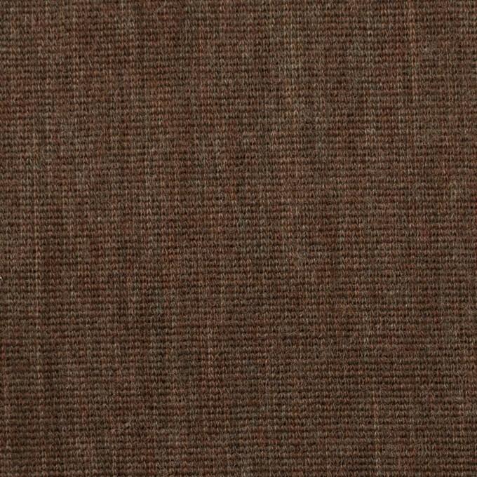 ウール×無地(カーキブラウン)×かわり編み イメージ1