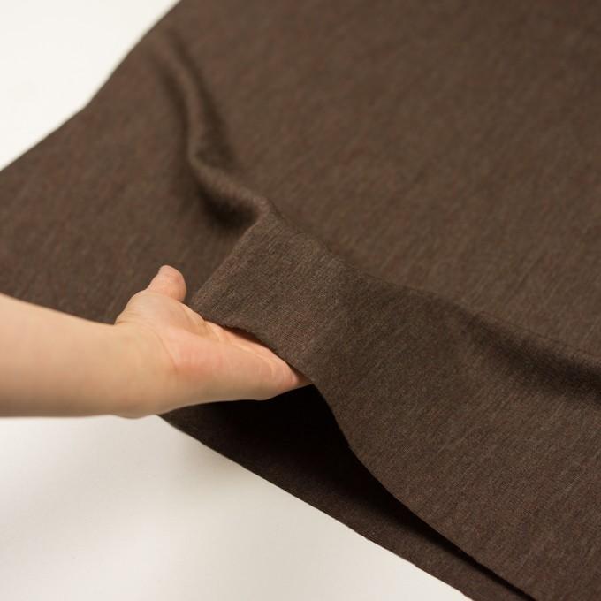 ウール×無地(カーキブラウン)×かわり編み イメージ5