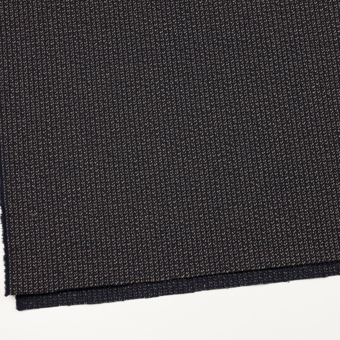 コットン&ウール混×ミックス(ダークネイビー、キナリ&カーキグリーン)×かわり織 イメージ2
