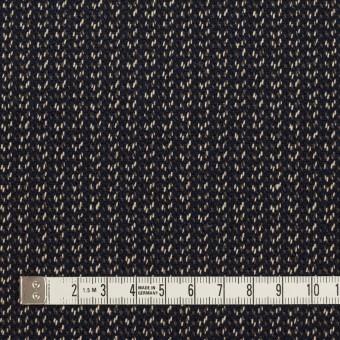 コットン&ウール混×ミックス(ダークネイビー、キナリ&カーキグリーン)×かわり織 サムネイル4