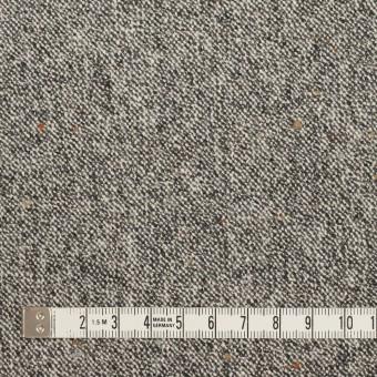ウール&ポリウレタン×ミックス(アイボリー&ブラック)×ツイードストレッチ_全2色 サムネイル4