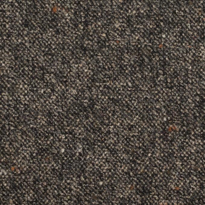 ウール&ポリウレタン×ミックス(キナリ&チャコール)×ツイードストレッチ_全2色 イメージ1