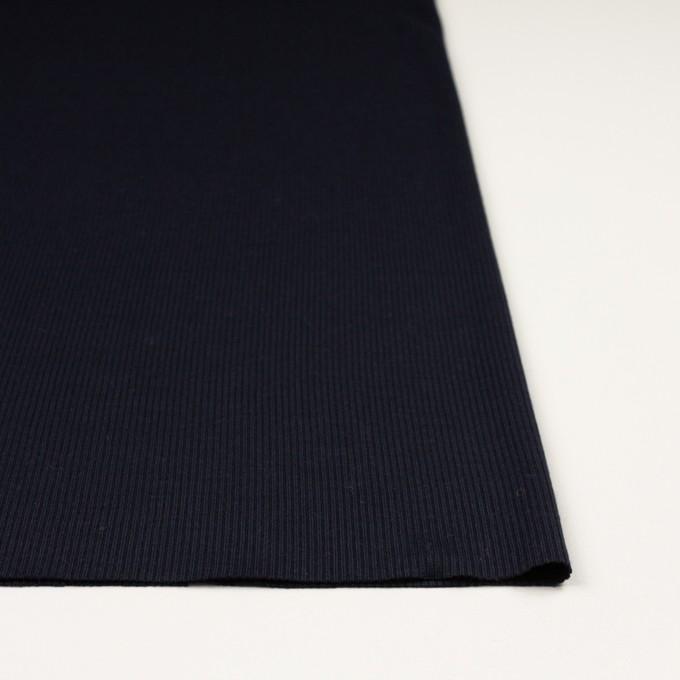 ウール&シルク×無地(ダークネイビー)×フライスニット イメージ3