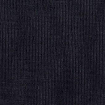 ウール&シルク×無地(ダークネイビー)×フライスニット サムネイル1