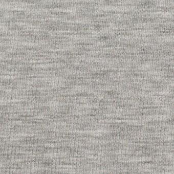 コットン&リヨセル混×無地(シルバーグレー)×裏毛ニット