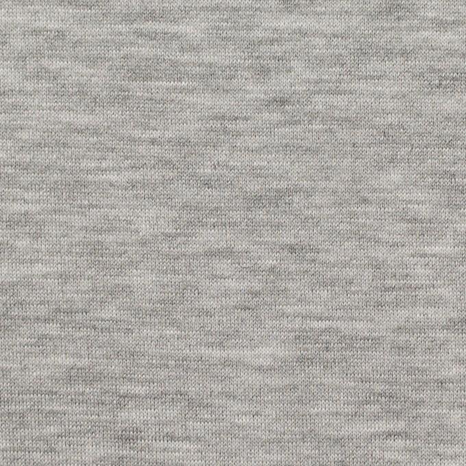 コットン&リヨセル混×無地(シルバーグレー)×裏毛ニット イメージ1