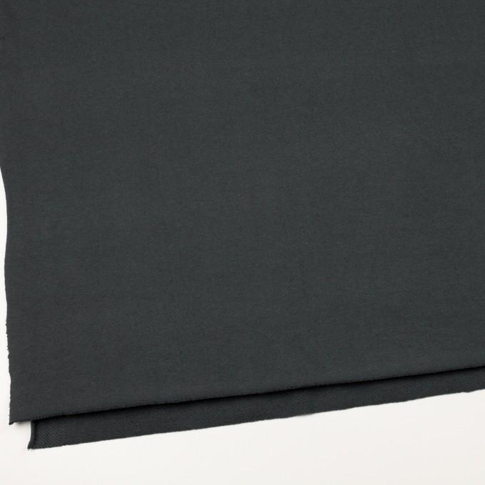 コットン×無地(スチールグレー)×裏毛ニット(裏面起毛) イメージ2