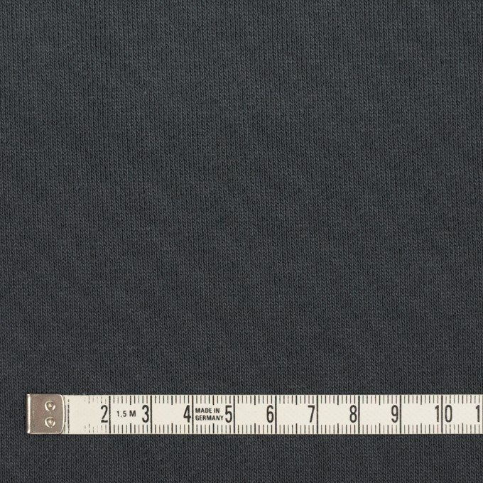 コットン×無地(スチールグレー)×裏毛ニット(裏面起毛) イメージ4