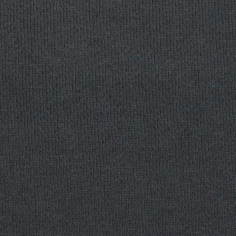 コットン×無地(スチールグレー)×裏毛ニット(裏面起毛)