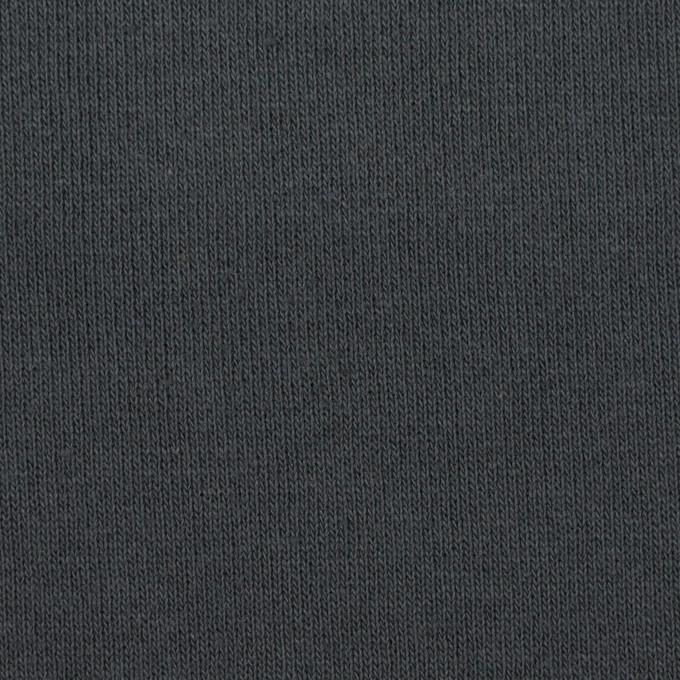 コットン×無地(スチールグレー)×裏毛ニット(裏面起毛) イメージ1