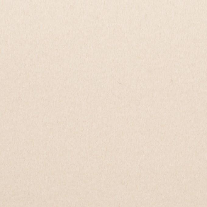 ウール×無地(アンティークホワイト)×フラノ(フランネル) イメージ1