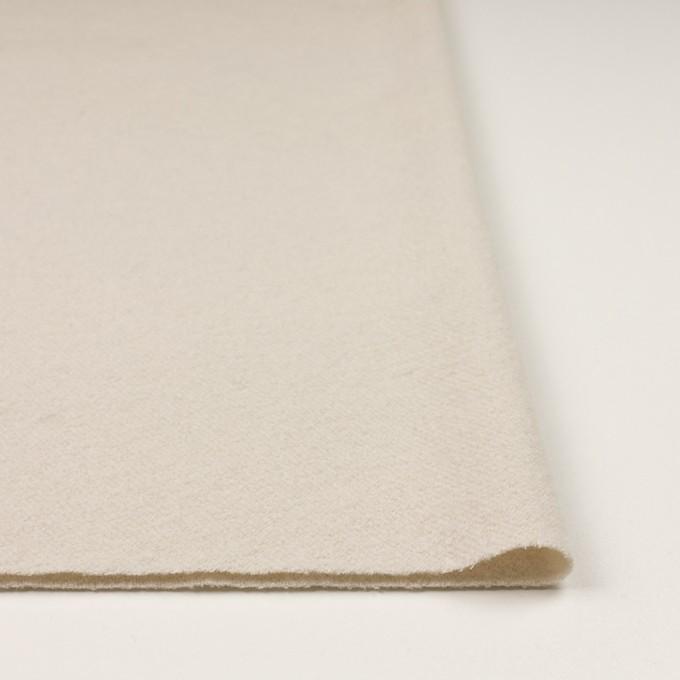 ウール&ナイロン×無地(アイボリー)×かわり織 イメージ3