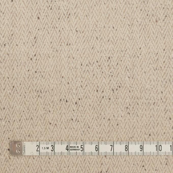 ウール×ミックス(ベージュ)×ヘリンボーン イメージ4