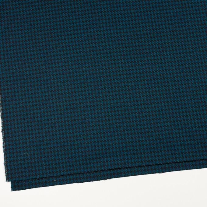 ウール×チェック(ターコイズ&ブラック)×千鳥格子 イメージ2