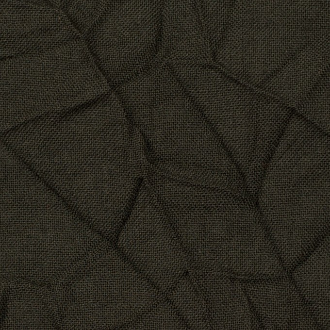 ウール×無地(ダークカーキ)×ボイルワッシャー イメージ1